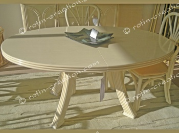 Table FONTAINE ovale avec 2 allonges